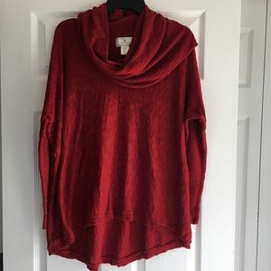 Ruby Moon Cowl Neck  Thermal Sweater- SZ M